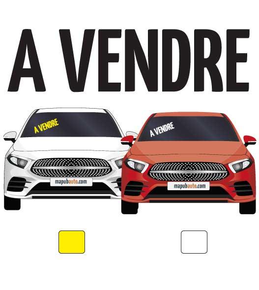 """lettres adhésives pour véhicule """"à vendre"""" par mapubauto.com"""