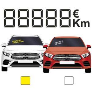 chiffres digitaux pour véhicule par mapubauto.com