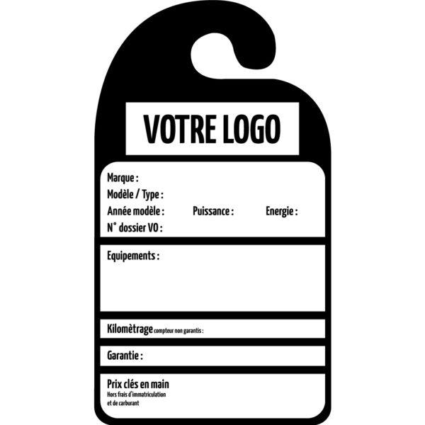 Affiche prix rétroviseur personnalisable en PVC par mapubauto.com