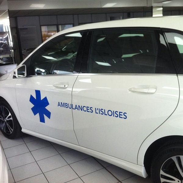 Marquage pour ambulance par mapubauto.com