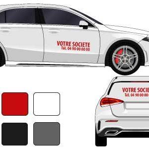 kit lettres adhésives pour véhicule - mapubauto.com
