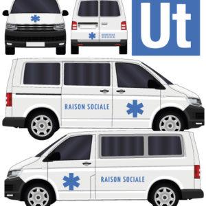 kit stickers marquage décoration ambulance avec croix de vie par mapubauto.com