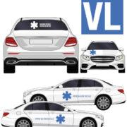 kit stickers marquage décoration ambulance lunette arrière avec croix de vie par mapubauto.com