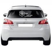 adhésif lunette arrière avec logo mapubauto.com
