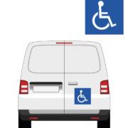 signalétique adhésif ou magnétique transport handicapé par mapubauto.com