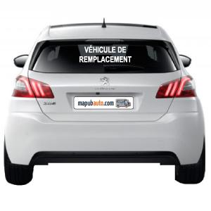 Adhésif véhicule de remplacement pour lunette arrière, réalisation mapubauto.com